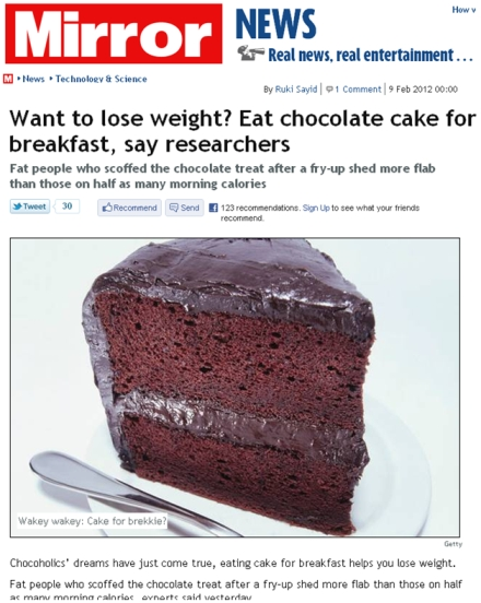Chocolate Cake For Breakfast Research