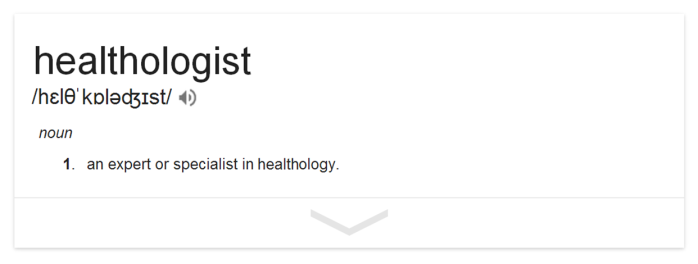 define healthologist