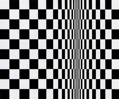 Movement in Squares, by Bridget Riley 1961 (Pic: Wikipedia)