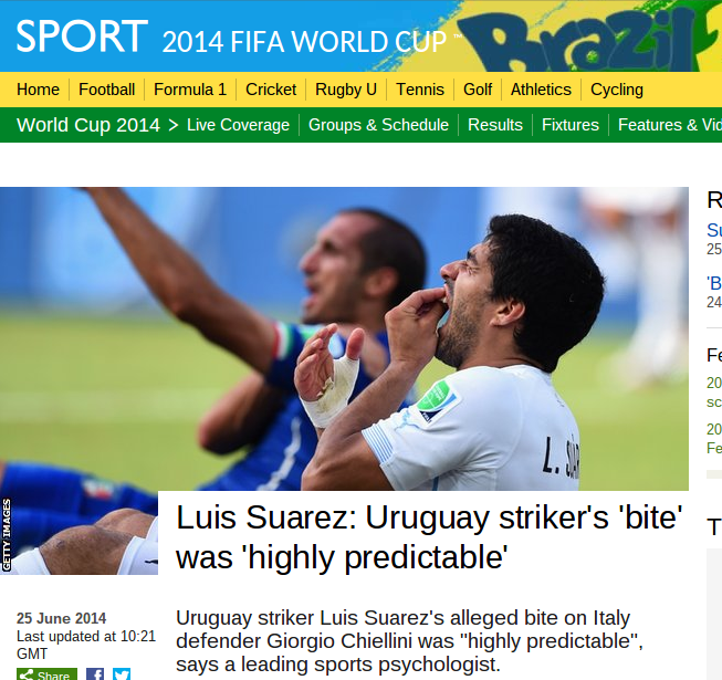 Suarez: Nature or nurture? BBC expert unable to specify, quoted